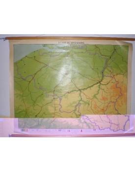 Belgie en Luxemburg (schaal 1. 300.000) Geplastificeerd