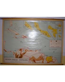 Nederlands Antillen (schaal 1 : 4.015.000) (gevernist)
