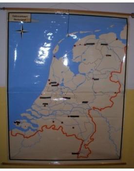 Opbouwkaart Nederland (geplastificeerd)